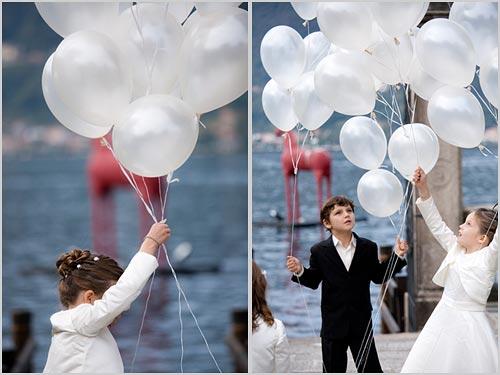 Addobbo matrimonio con fiori e palloncini a villa bossi orta - Decorazioni matrimonio palloncini ...