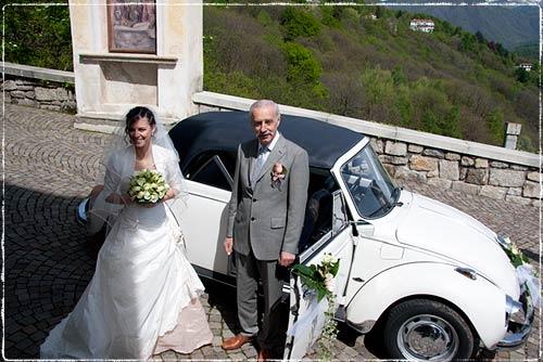 addobbo auto sposi Maggiolone