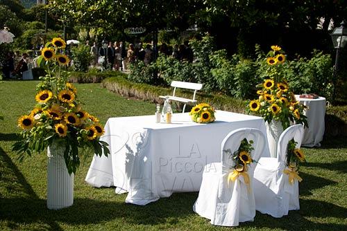Tavolo Matrimonio Girasoli : Matrimonio a settembre fiori gialli organizzazione