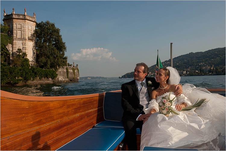 Servizio trasporto in motoscafo per matrimonio sul Lago Maggiore