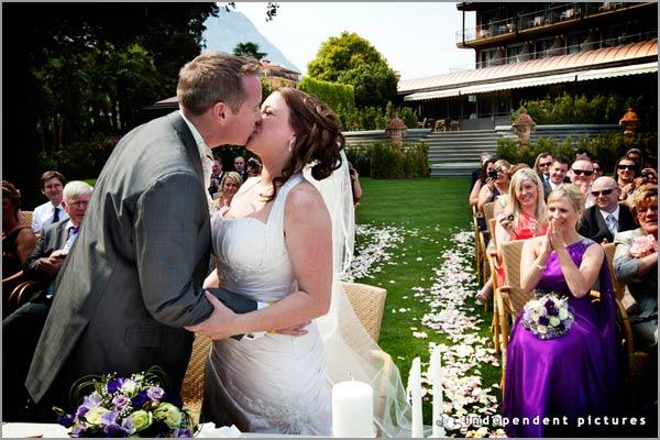 matrimonio all'aperto Hotel Dino Baveno
