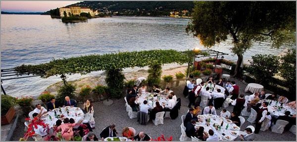ristorante matrimonio con terrazzo sul lago Maggiore
