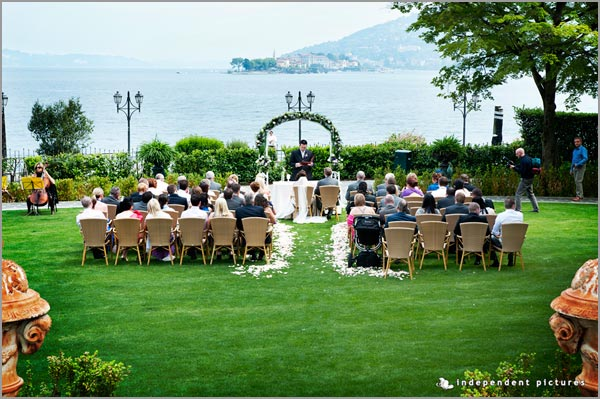 cerimonia matrimonio all'americana Lago Maggiore