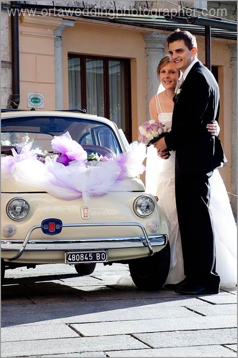 noleggio auto Fiat 500 matrimonio Stresa