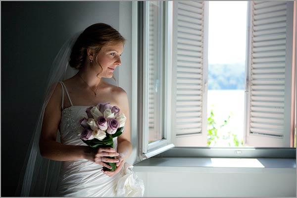 bouquet da sposa rose lilla e bianche