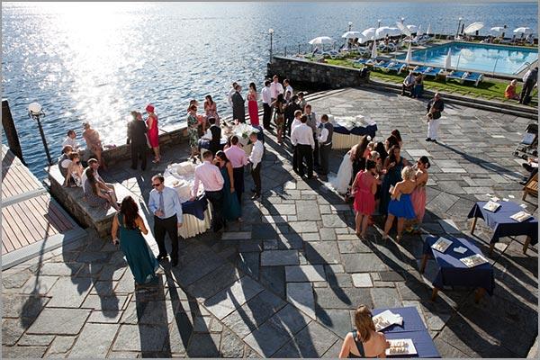 ricevimento in riva al lago Hotel San Rocco
