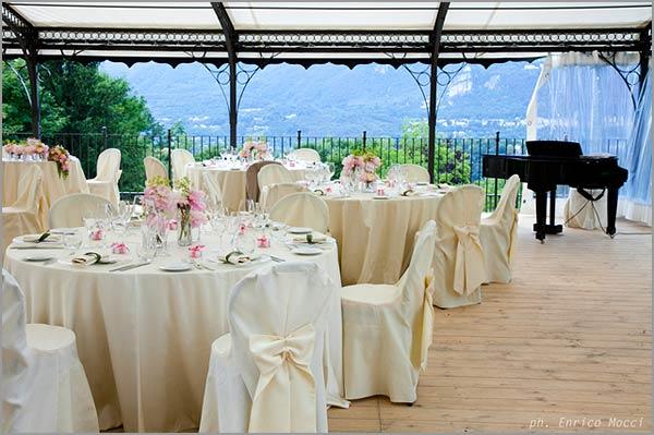 Villa Pestalozza gazebo panoramico per ricevimenti in giardino
