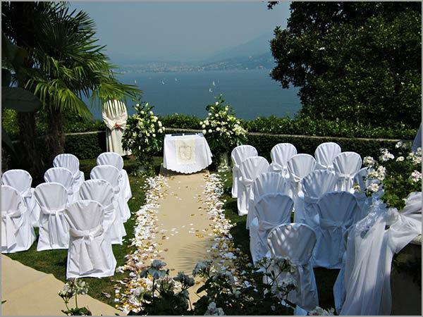 cerimonia religiosa in giardino Villa Margherita lago Maggiore