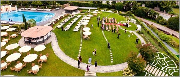 ricevimento matrimonio all'aperto Hotel Bristol Stresa