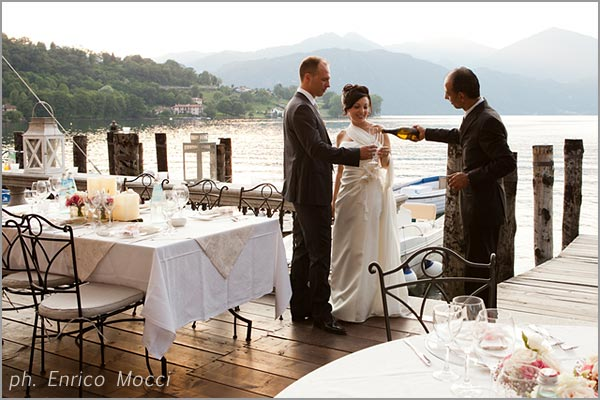 aperitivo matrimonio Orta Beach Club