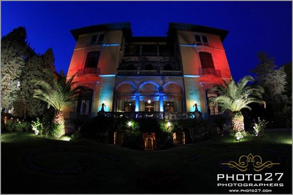 impianto luci matrimonio Villa Rusconi Verbania