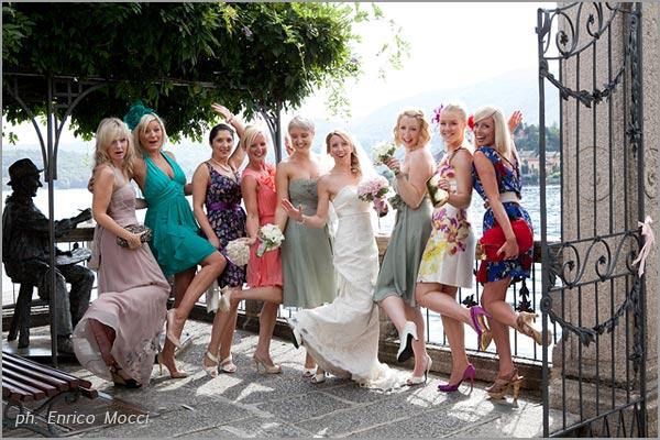 abiti damigelle sposa Orta Novara