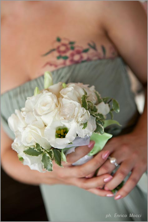 bouquet per damigella della sposa