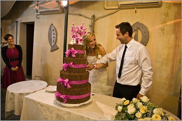 torta nuziale al cioccolato Ristorante San Giulio