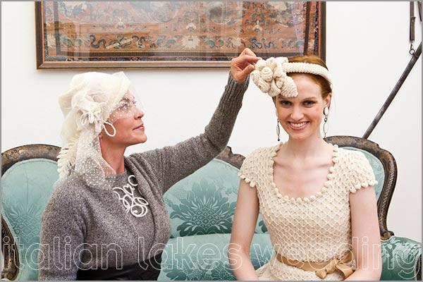 cappelli per sposa Villa Pestalozza Novara