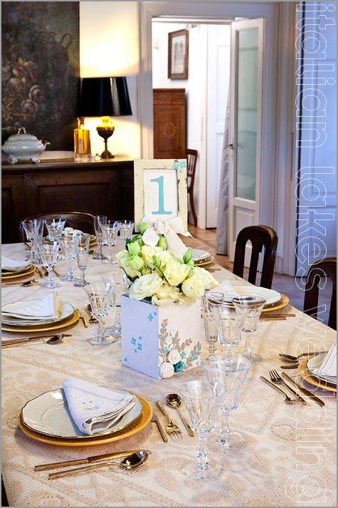 centrotavola floreale matrimonio Villa Pestalozza