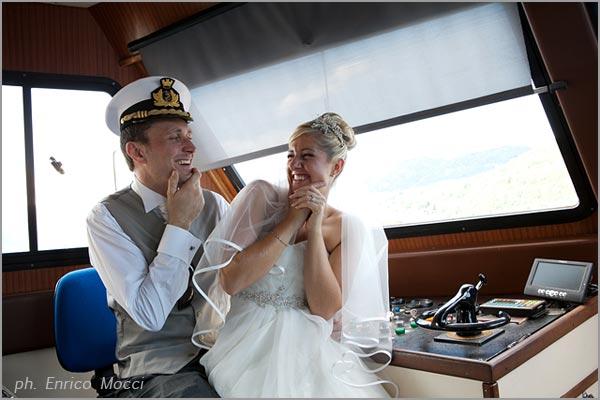 affitto battelli matrimonio sul lago
