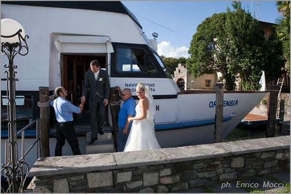 cerimonia matrimonio in battello sul lago