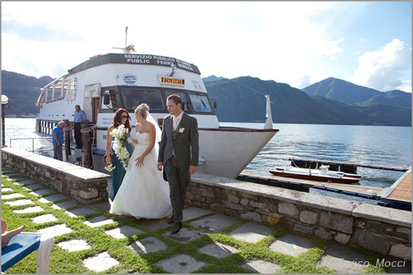 ricevimento matrimonio in battello sul lago