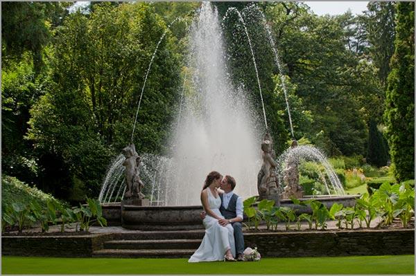 fotografie di matrimonio nei giardini di Villa Taranto