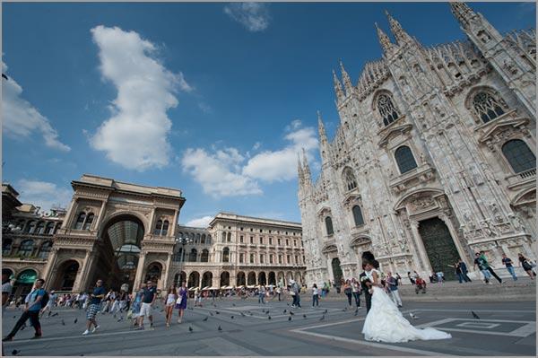 matrimonio nel Duomo di Milano