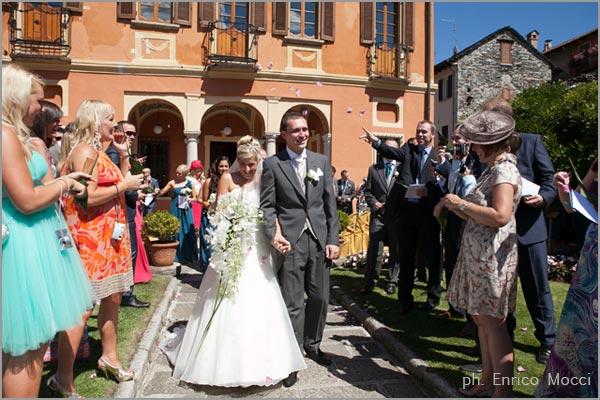 cerimonia di matrimonio a Villa Bossi