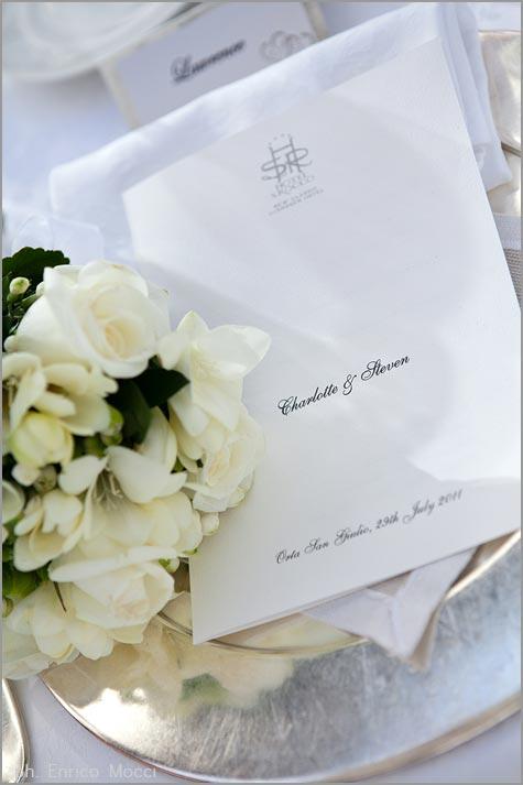 menu matrimonio Hotel San Rocco