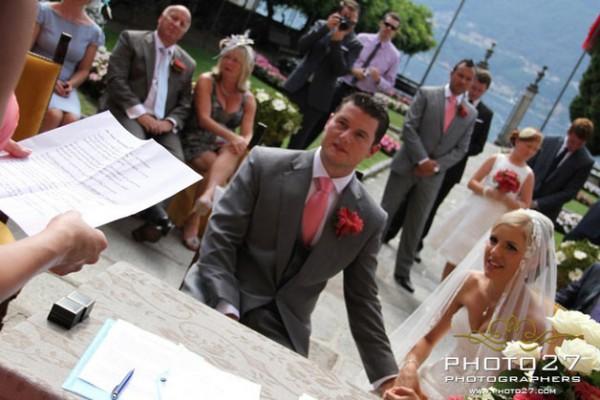 nozze a Villa Bossi