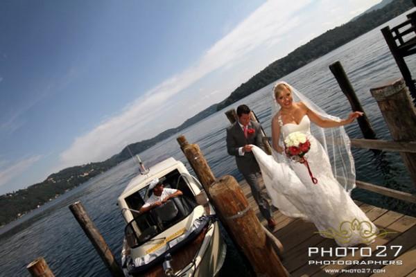 affitto motoscafi matrimonio Lago d'Orta