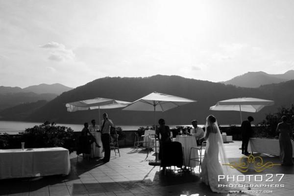 aperitivo matrimonio in terrazza Hotel Giardinetto Pettenasco