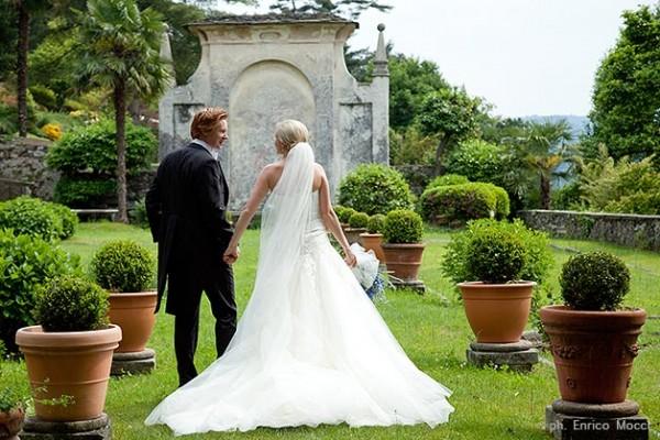 matrimonio in giardino vista a Palazzo Gemelli di Orta