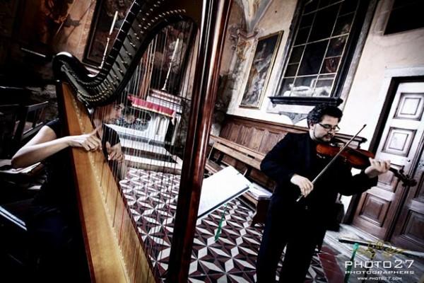 duo violino arpa matrimonio lago d'Orta