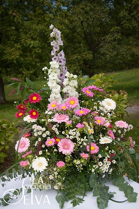 centrotavola country a villa Pestalozza di La Piccola Selva floral designer