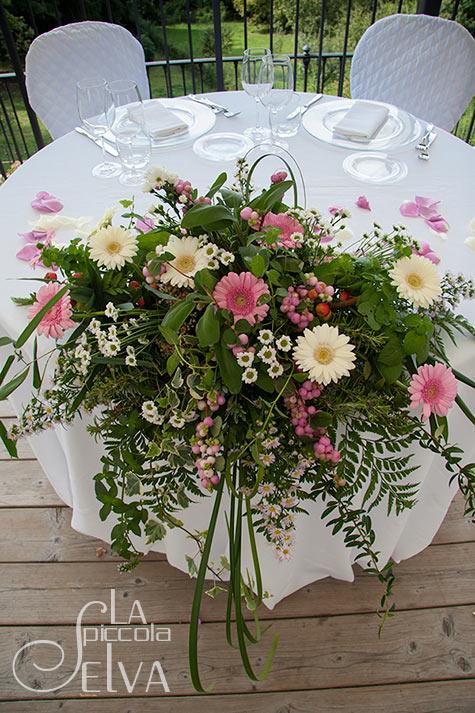 Addobbi florali matrimonio a Villa Pestalozza