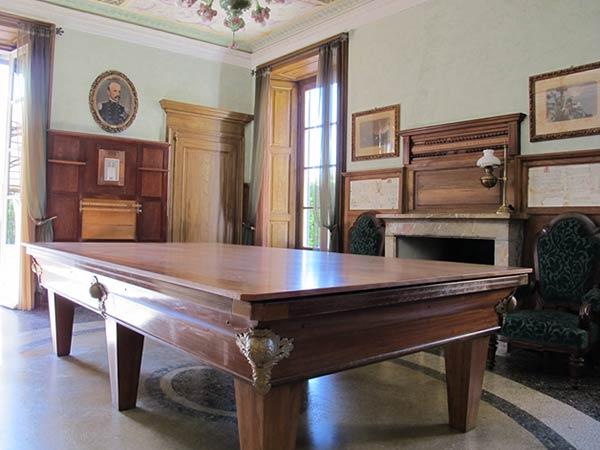 La Sala del Biliardo di Villa Pestalozza