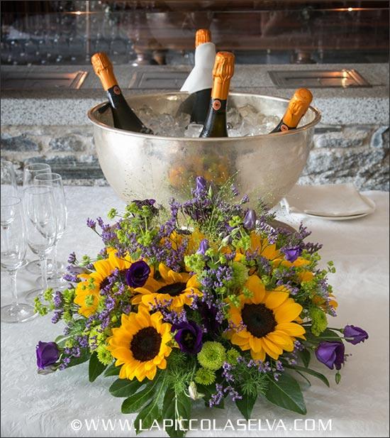 Matrimonio Girasoli E Spighe : Addobbi floreali matrimonio lago maggiore