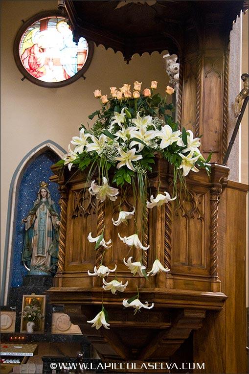 fiorista matrimonio chiesa Carciano di Stresa