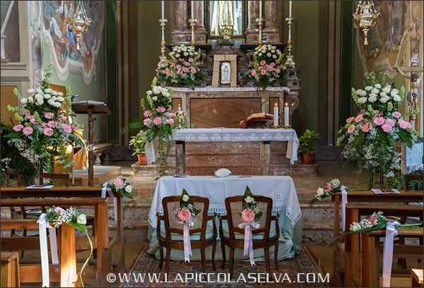 fiori matrimonio chiesa Madonna del Popolo Omegna