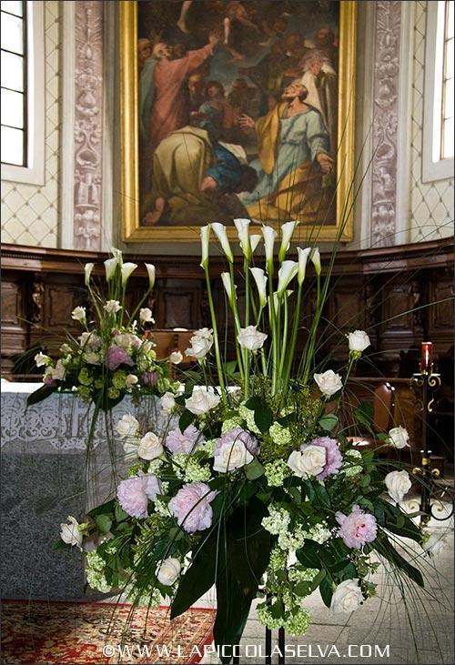 fiori matrimonio chiesa di Maria Assunta a Armeno, Novara
