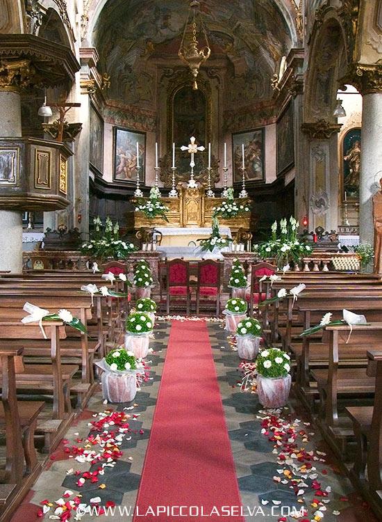fiorista matrimonio chiesa Maria Assunta di Orta