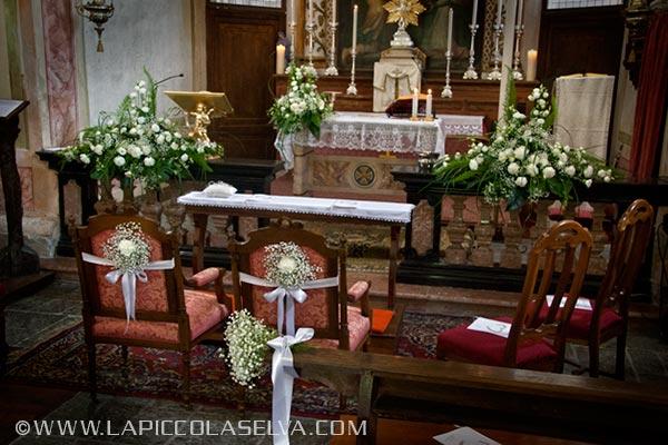 Fiorista matrimonio chiesa Sacro Monte di Ghiffa