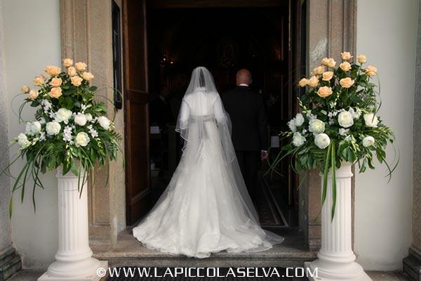 fiorista matrimonio chiesa Sacro Monte di Orta