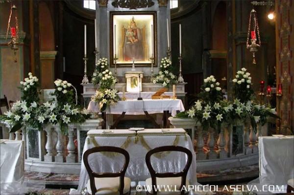 fiorista Ornavasso matrimonio chiesa Santuario Madonna del Boden