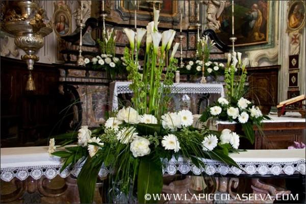 fiorista matrimonio chiesa Santuario Madonna del Sasso