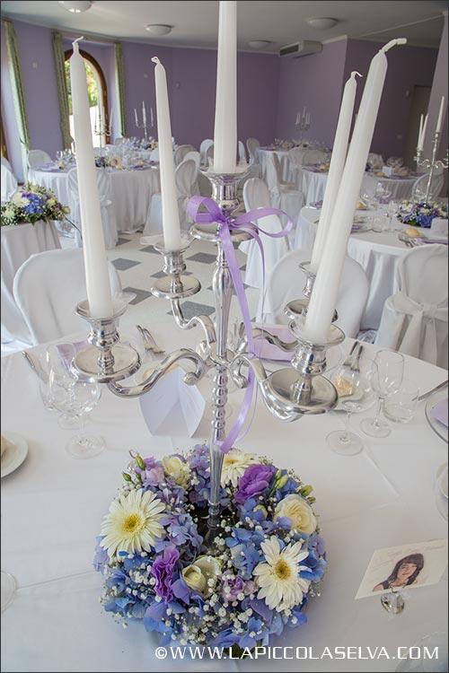 fiori centrotavola matrimonio Villa Ortea