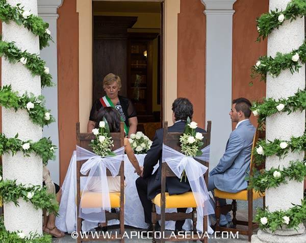 fiorista matrimonio Villa Bossi