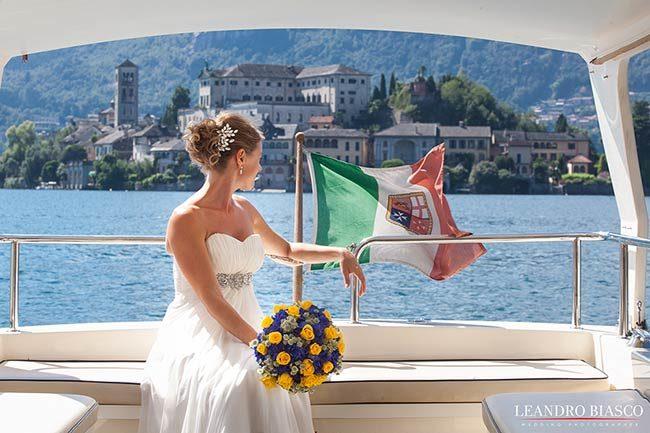 Matrimonio al lago d'Orta © foto Leandro Biasco