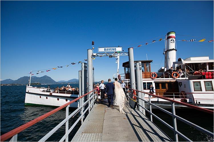 Battello matrimonio lago Maggiore