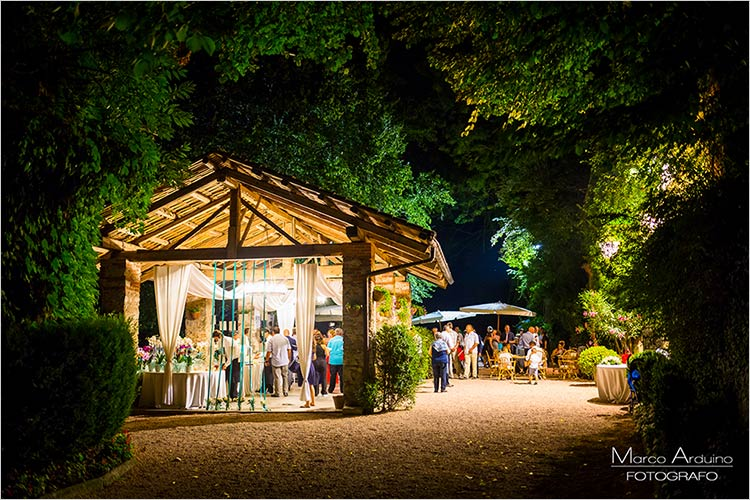 Fuochi d'artificio matrimonio lago Maggiore