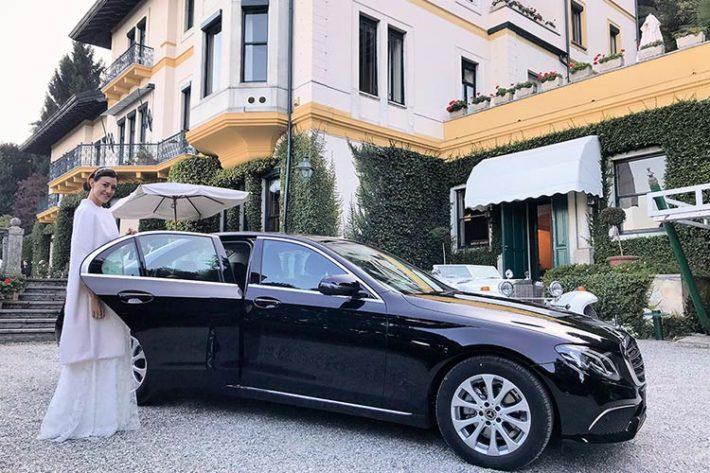 Noleggio Mercedes matrimonio Villa Claudia Dal Pozzo lago Maggiore